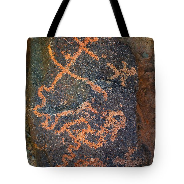 Petroglyph Tucson Arizona Tote Bag by Donna Greene