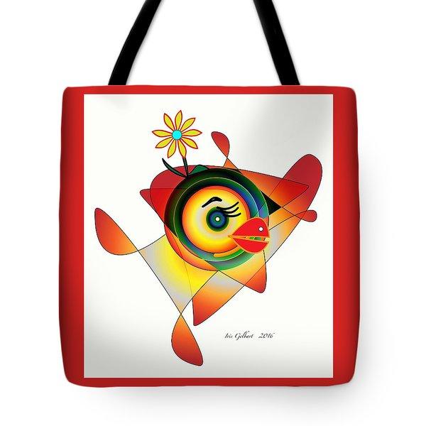 Petunia Parrot Tote Bag