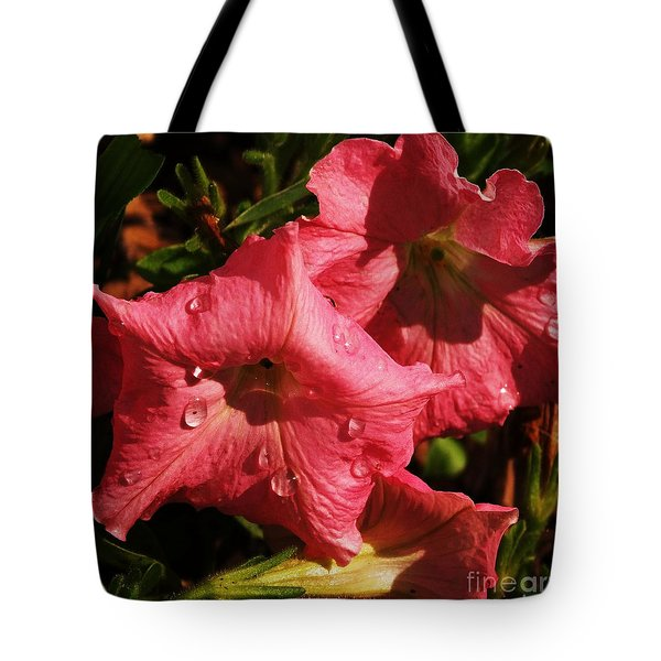 Petunia Tears Tote Bag by J L Zarek