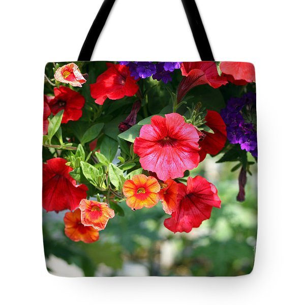 Tote Bag featuring the photograph Petunias by Denise Pohl