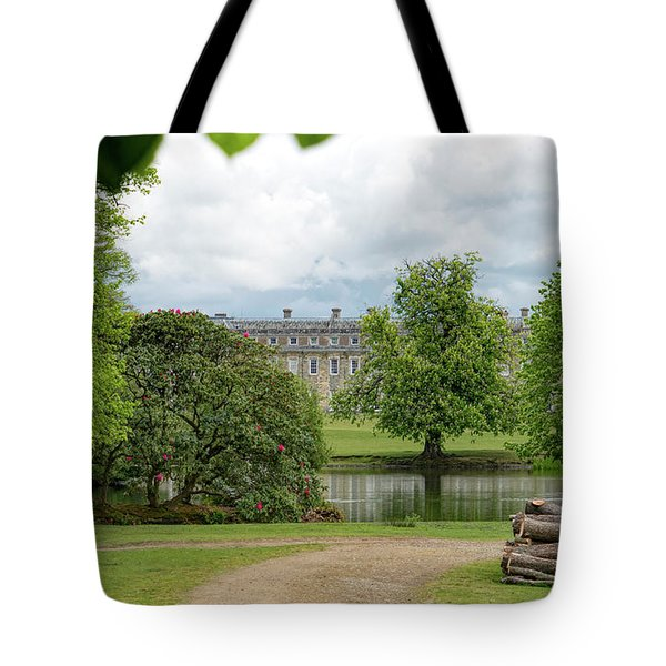 Tote Bag featuring the photograph Petworth House On Lake by Michael Hope