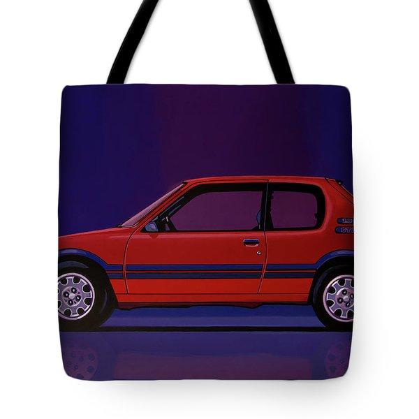Peugeot 205 Gti 1984 Painting Tote Bag