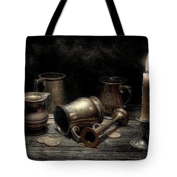 Pewter Still Life I Tote Bag by Tom Mc Nemar