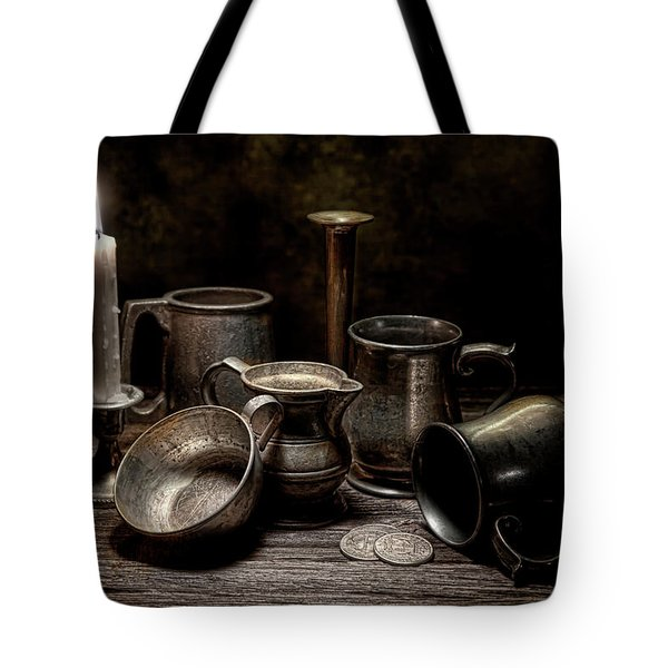 Pewter Still Life II Tote Bag by Tom Mc Nemar