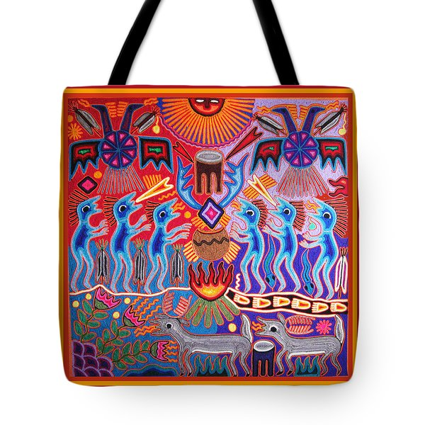Peyote Shaman Hunting Ritual Tote Bag