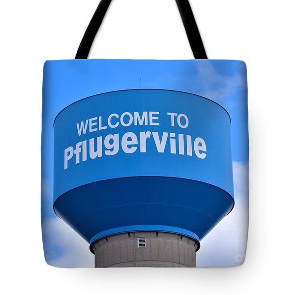 Pflugerville Texas - Water Tower Tote Bag