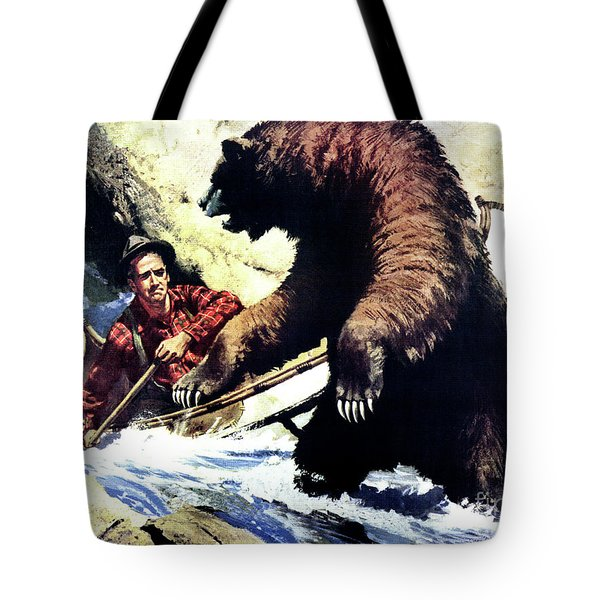 Tote Bag featuring the painting Pg- Dangerous Waters by JQ Licensing