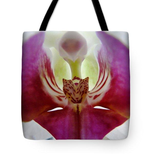 Phalaenopsis Orchid Detail Tote Bag by Valerie Ornstein