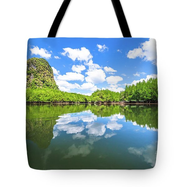 Tote Bag featuring the photograph Phang Nga Bay by Benny Marty