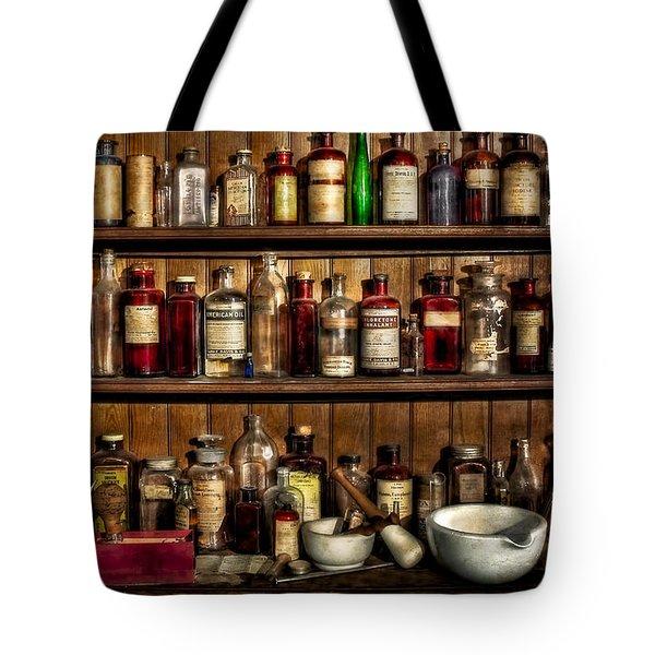 Pharmaceuticals Tote Bag by Susan Candelario