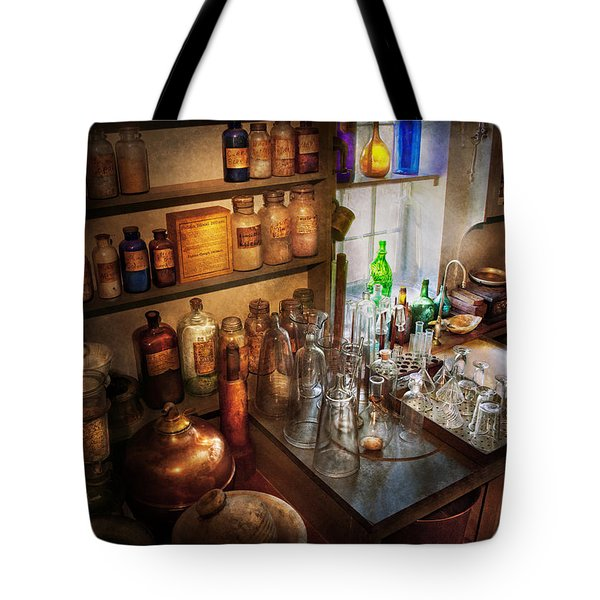 Pharmacist - A Little Bit Of Witch Craft Tote Bag by Mike Savad