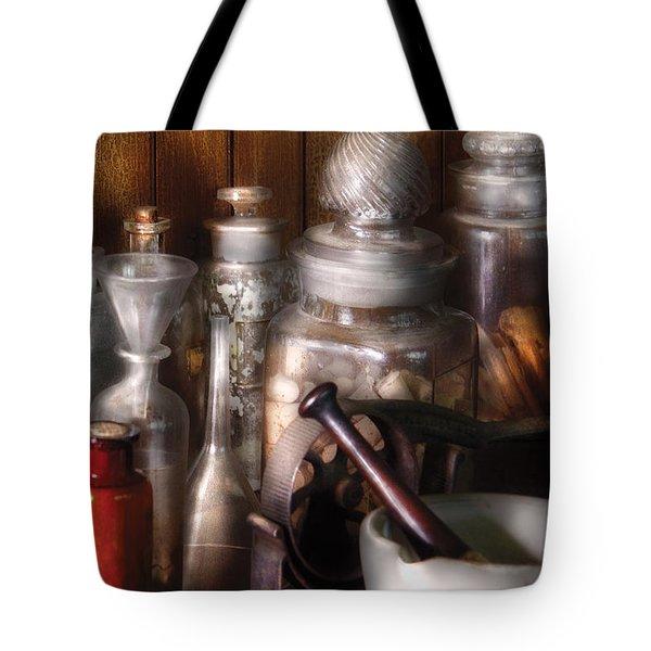 Pharmacist - Tools Of The Pharmacist  Tote Bag by Mike Savad