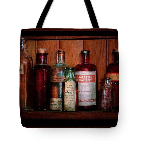 Pharmacy -  Oils And Inhalants Tote Bag by Mike Savad