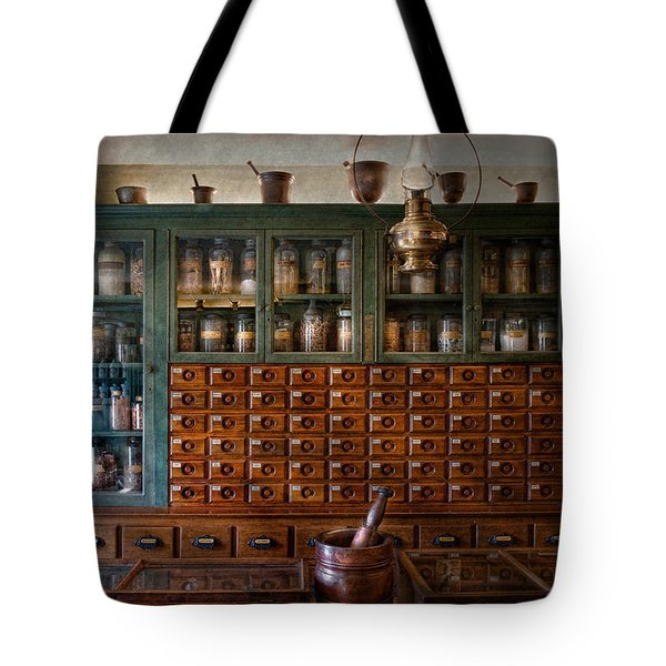 Pharmacy - Right Behind The Counter Tote Bag by Mike Savad