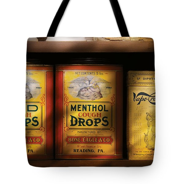 Pharmacy - Cough Drops Tote Bag by Mike Savad