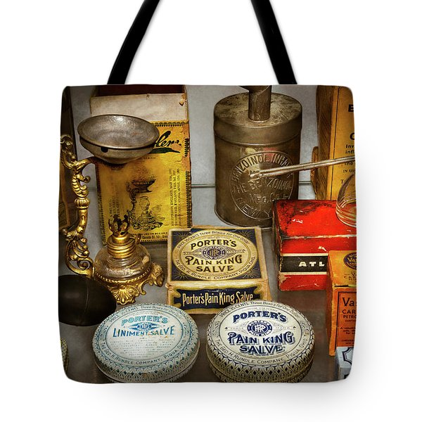 Pharmacy - The Pain King Tote Bag by Mike Savad