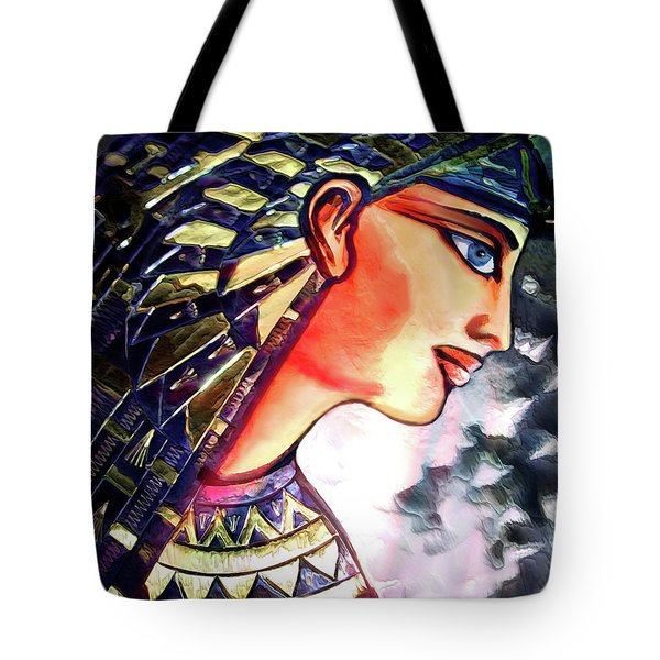 Tote Bag featuring the digital art Pharoah Of Egypt by Pennie  McCracken