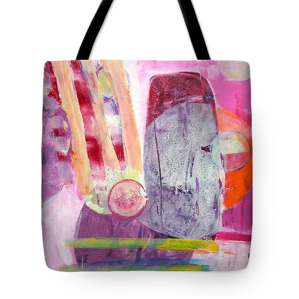 Tote Bag featuring the painting Phases by Mary Schiros