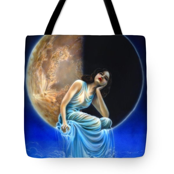 Phases Of The Moon, Third Quarter Tote Bag by Wayne Pruse