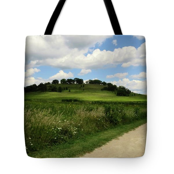 Tote Bag featuring the photograph Pheasant Branch Hill by Kimberly Mackowski