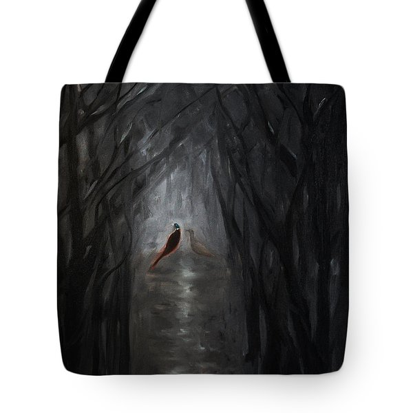 Pheasants In The Garden Tote Bag by Tone Aanderaa