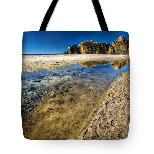 Tote Bag featuring the photograph Pheiffer Beach- Keyhole Rock #19 - Big Sur, Ca by Jennifer Rondinelli Reilly - Fine Art Photography