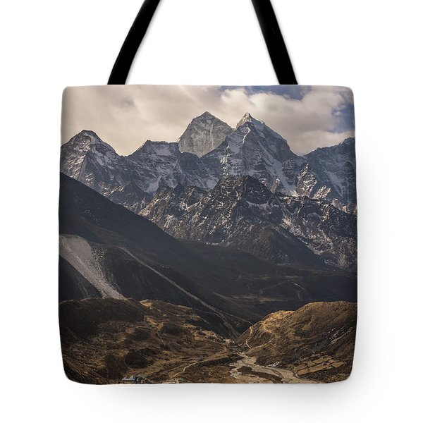 Tote Bag featuring the photograph Pheriche In The Valley by Mike Reid