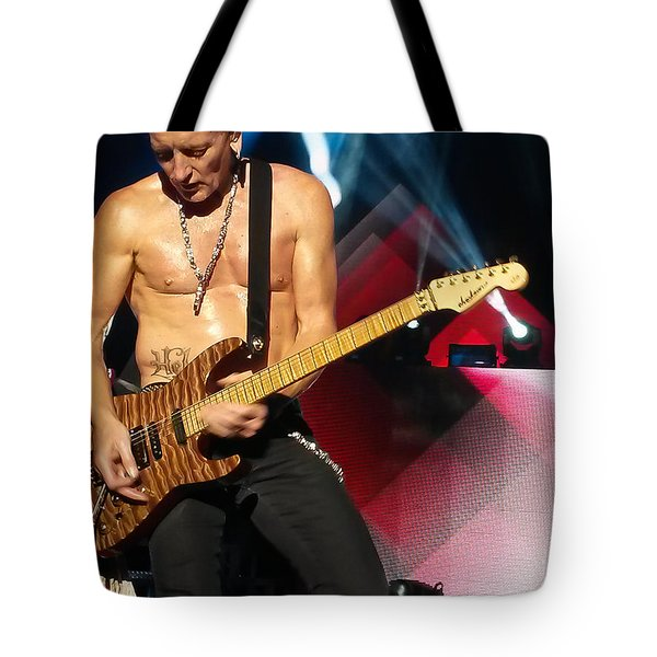 Phil Collen Of Def Leppard 2 Tote Bag by David Patterson