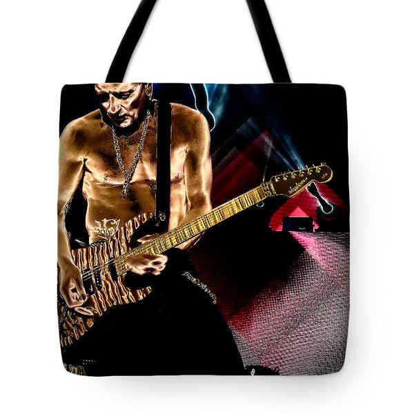 Phil Collen Of Def Leppard 3 Tote Bag by David Patterson