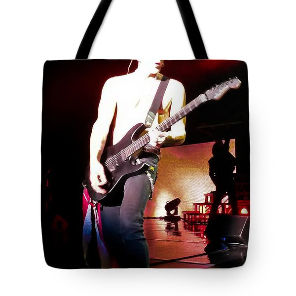 Phil Collen Of Def Leppard 6 Tote Bag by David Patterson