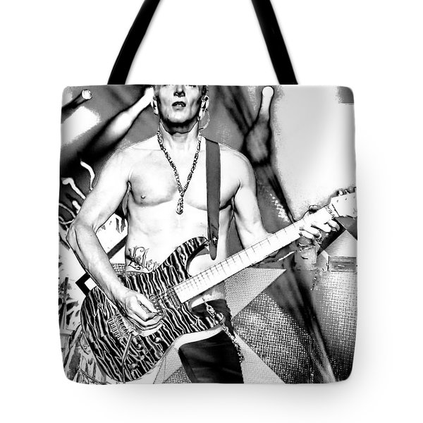 Phil Collen With Def Leppard Tote Bag by David Patterson