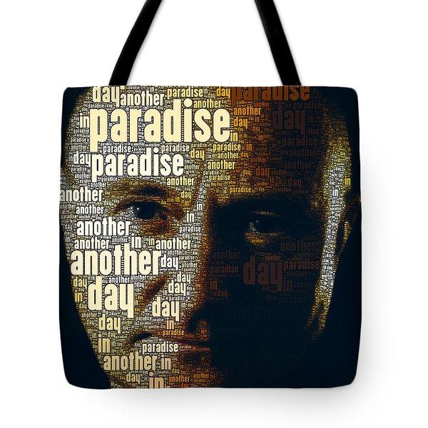 Phil Collins Word Portrait  Tote Bag