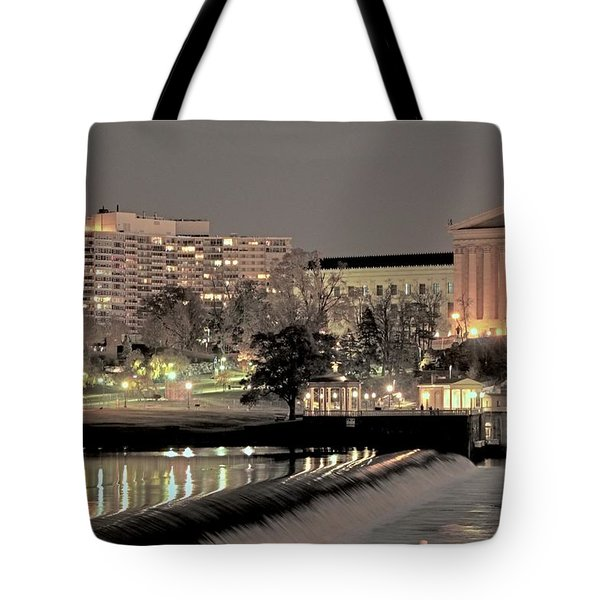 Philadelphia Art Museum In Pastel Tote Bag