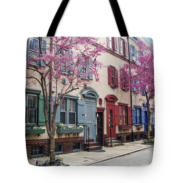 Tote Bag featuring the photograph Philadelphia Blossoming In The Spring by Bill Cannon