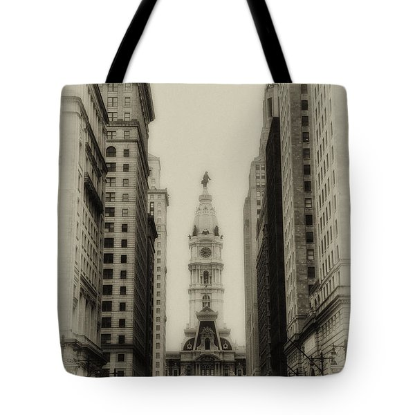 Philadelphia City Hall From South Broad Street Tote Bag by Bill Cannon