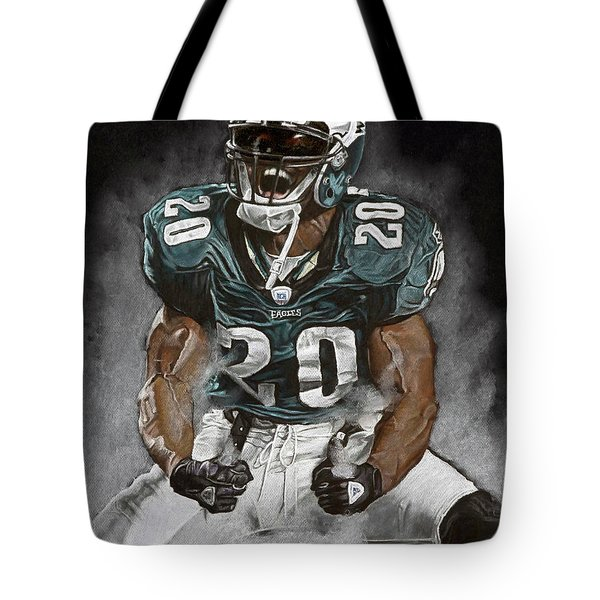 Philadelphia Eagles Brian Dawkins The Legend Tote Bag