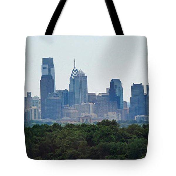 Philadelphia Green Skyline Tote Bag by Ian  MacDonald