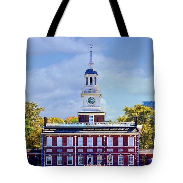 Philadelphia Landmark Tote Bag by DJ Florek