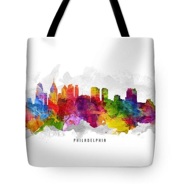 Philadelphia Pennsylvania Cityscape 13 Tote Bag by Aged Pixel