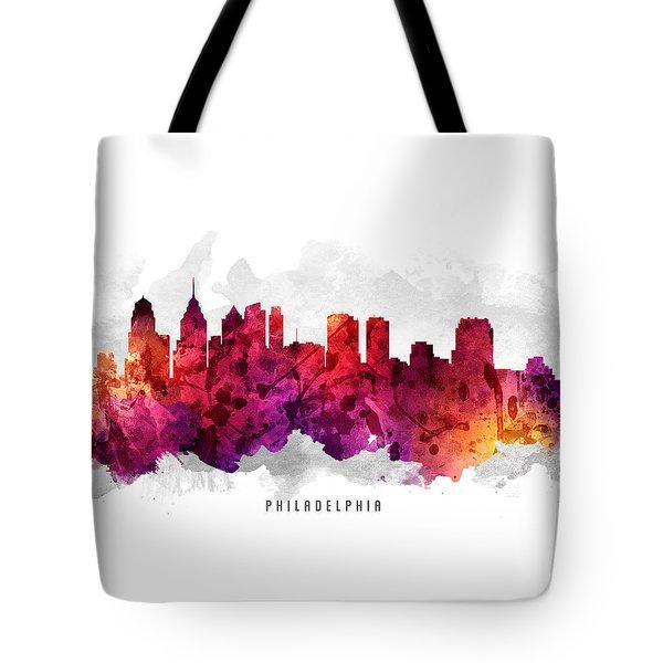 Philadelphia Pennsylvania Cityscape 14 Tote Bag by Aged Pixel