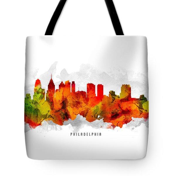 Philadelphia Pennsylvania Cityscape 15 Tote Bag by Aged Pixel
