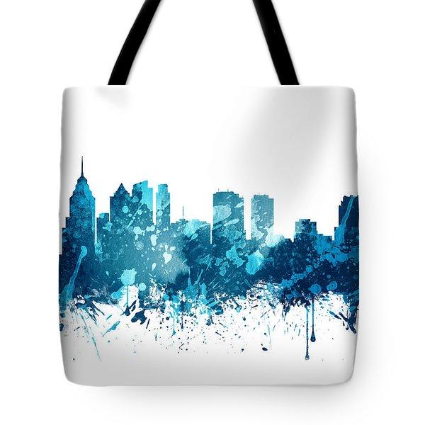 Philadelphia Pennsylvania Skyline 19 Tote Bag by Aged Pixel