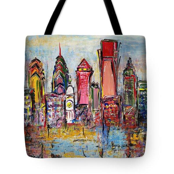 Philadelphia Skyline 232 1 Tote Bag by Mawra Tahreem