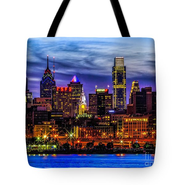 Tote Bag featuring the photograph Philadelphia Skyline by Nick Zelinsky
