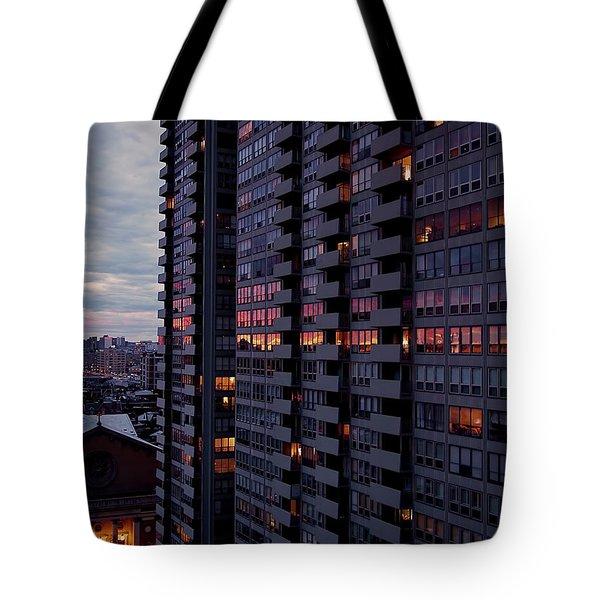 Philadelphia Sunset Tote Bag by Rona Black