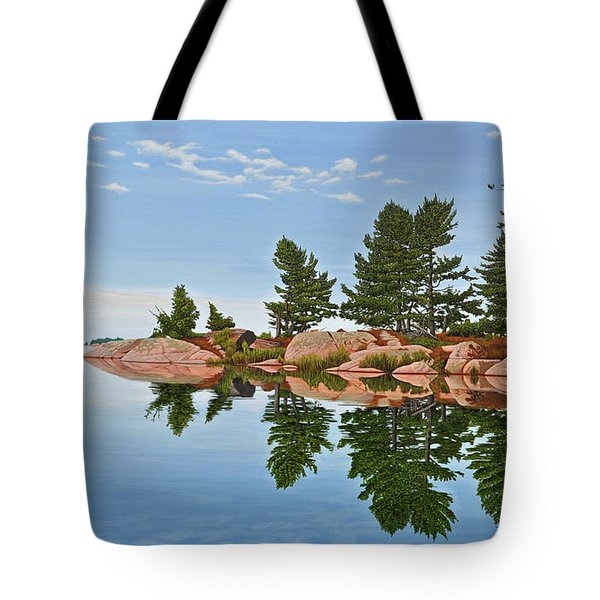 Tote Bag featuring the painting Philip Edward Island by Kenneth M Kirsch