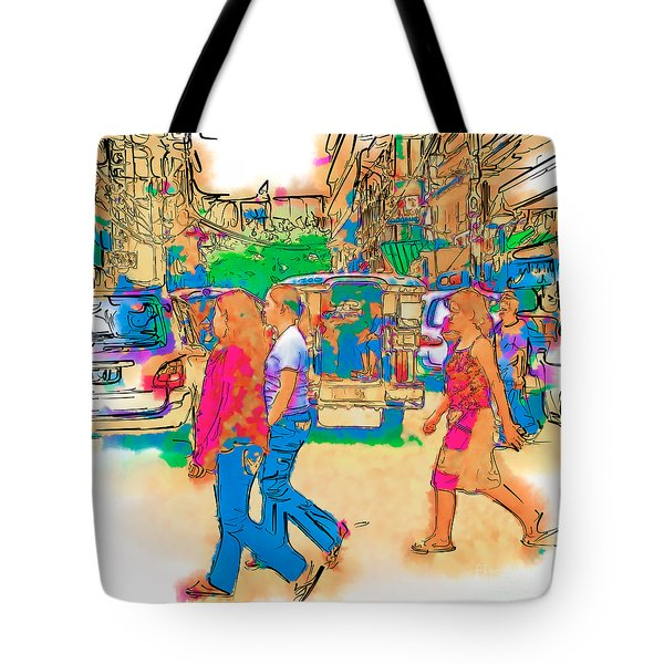 Philippine Girls Crossing Street Tote Bag