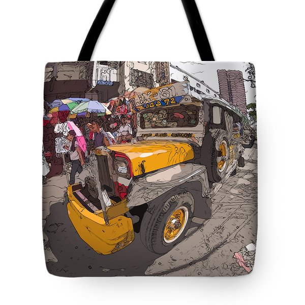 Philippines 1261 Jeepney Tote Bag