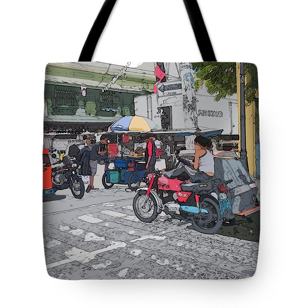 Philippines 673 Street Food Tote Bag
