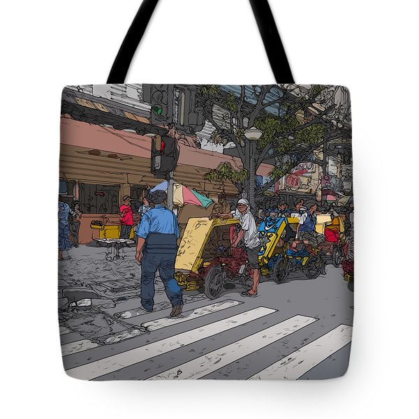 Philippines 906 Crosswalk Tote Bag